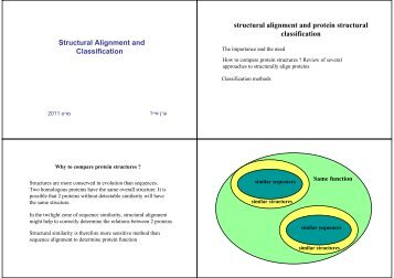 Structural Alignment and Classification structural alignment and ...