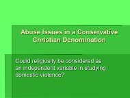 Domestic Violence in a Conservative Christian Faith - Southern ...