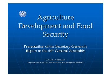Agriculture Development and Food Security - United Nations ...
