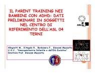 il parent training nei bambini con adhd: dati preliminari in ... - Aidai
