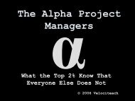 The Alpha Project Managers - La Crosse PMI chapter