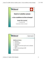 Oeufs et volailles suisses - Aviforum
