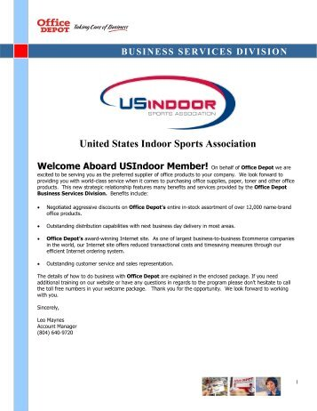 Welcome Packet - United States Indoor Soccer Association