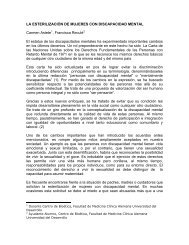 La esterilización de mujeres con discapacidad mental - Facultad de ...