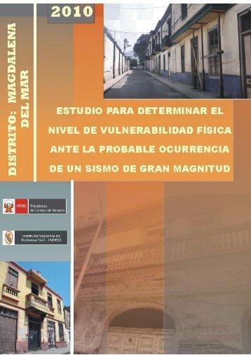 Distrito de Magdalena - Indeci