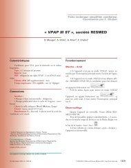 « VPAP III ST », société RESMED - SPLF