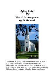 Sylling kirke 1852 Viet til St.Margareta og St.Hallvard - Lier kommune