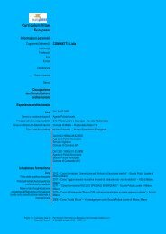 Curriculum Vitae Europass - Regione Lombardia