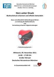 Herz unter Druck - Deutsches Herzzentrum München