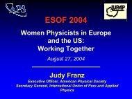 Judy Franz at the Euroscience Forum-2004