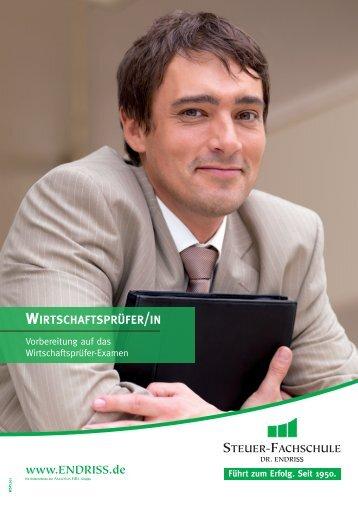 wirtschaftsprüfer/in - Steuer-Fachschule Dr. Endriss