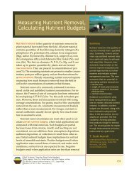 Measuring Nutrient Removal, Calculating Nutrient Budgets