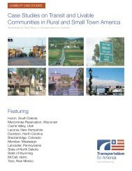 Case Studies on Transit and Livable Communities - Transportation ...
