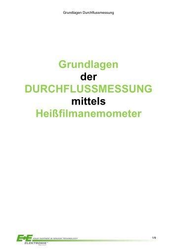 Grundlagen der DURCHFLUSSMESSUNG mittels ...