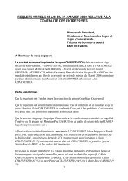 requete article 44 loi du 31 janvier 2009 relative a la continuite des ...