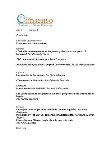 La revista Consenso - Northeastern Illinois University