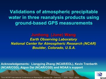 mparisons of Atmospheric Precipitable Water between NCEP/NCAR ...