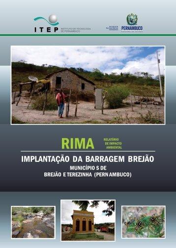 Barragem Brejão - CPRH - Governo do Estado de Pernambuco