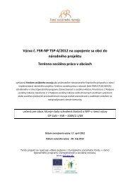 Výzva FSR-NP TSP-4/2012 - Fond sociálneho rozvoja