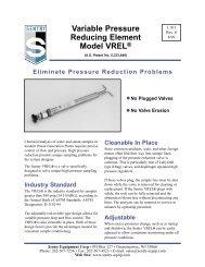 Variable Pressure Reducing Element Model VREL®
