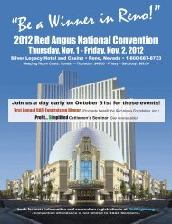 2012 Red Angus National Convention