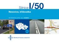 Silnice I/50 Nesovice, křižovatka - Ředitelství silnic a dálnic