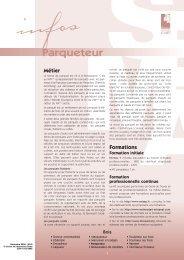 Parqueteur - Institut National des Métiers d'Art