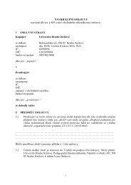 Návrh kupní smlouvy - Univerzita Hradec Králové