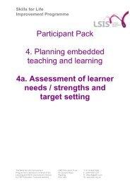 Skills for Life Improvement Programme - SfLIP