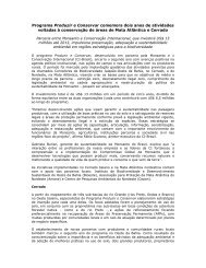 Relatório de Atividades Ano 2 - Conservação Internacional