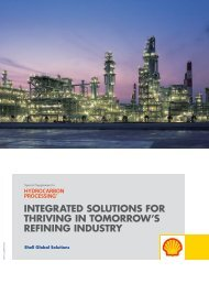 Integrated Solutions for thriving in tomorrow's refining industry