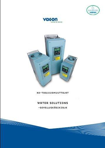 Vacon vedenkäsittelysovellukset, käyttöohje