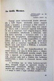 Az örök Mester. - Magyarországi Unitárius Egyház
