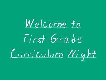 Welcome to Parent Information Night - Deretchin Elementary School