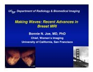 Making Waves: Recent Advances in Breast MRI - UCSF Department ...