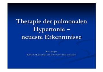 Therapie der pulmonalen Hypertonie – neueste Erkenntnisse