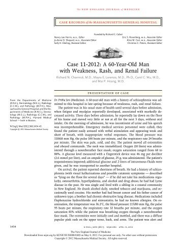 Case 11-2012: A 60-Year-Old Man with Weakness, Rash, and ...