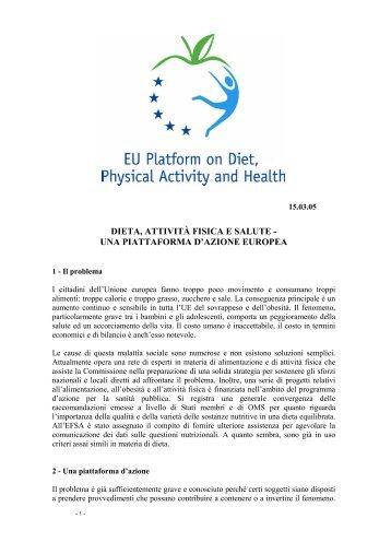 Dieta, attività fisica e salute - European Commission - Europa