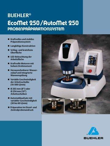 EcoMet 250 / AutoMet 250 - Buehler GmbH