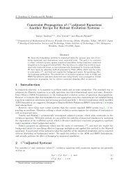 Constraint Propagation of $C^2$-adjusted Equations (pdf, 180KB)