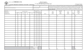 Form - Louisiana Department of Revenue