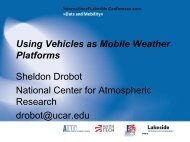 Using Vehicles as Mobile Weather Platforms - Lakeside Conference