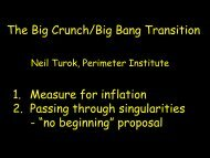 The Big Crunch/Big Bang Transition 1. Measure for inflation 2 ...