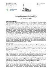 Gottesdienst zum Kirchweihfest 12. Februar 2012 - Alsterbund