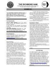 News Letter November 2012 - Richmond Amateur Radio Club