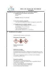 Aceite de Silicón MSDS - CTR Scientific