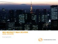 mid-market m&a review mid market m&a review - Thomson Reuters ...