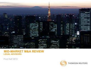 mid-market m&a review mid market m&a review - Thomson Reuters ...