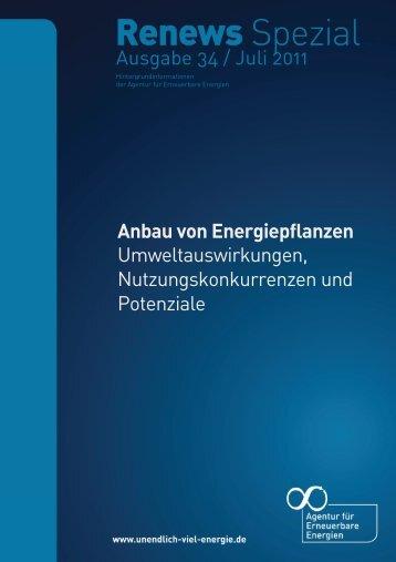 Anbau von Energiepflanzen - Agentur für Erneuerbare Energien