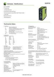 G2ZIF20 Zeitrelais - Multifunktion Technische Daten